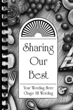 black and white fundraising cookbooks