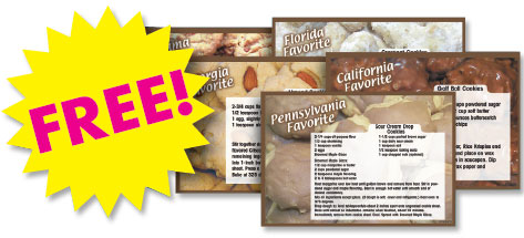 free cookie recipe cards