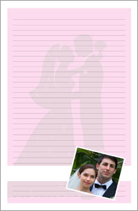Notepad - Wedding theme couples getting married