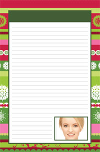 Notepad - Winter Holiday theme