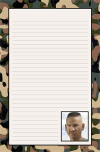 Notepad - Military theme