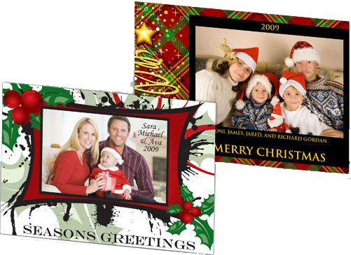 Photo cards for Christmas Holidays 7x5