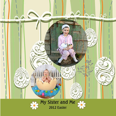 Easter Eggs Design Photo Album 12x9