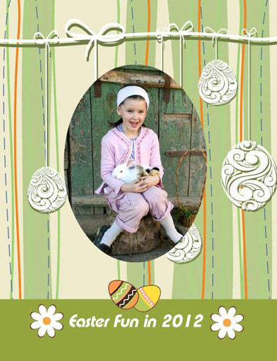 8.5x11 Easter Eggs Background Photo Book