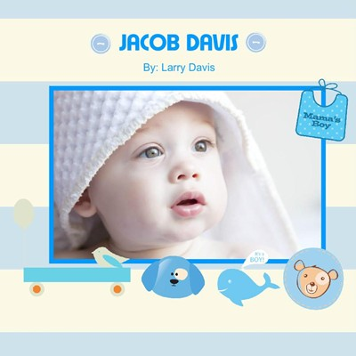 Blue Dream Theme,photobook for baby boys