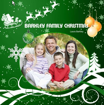 Green Christmas Photo Book, Christmas Green Theme