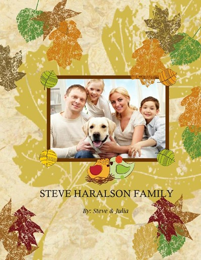 Fall Family Memories Photo Album, Mix Textures Theme