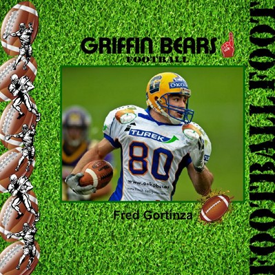 Football Players Photo Book, Grass Theme