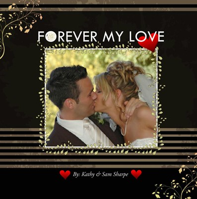Wedding Love Couple Photo Book, Forever Bliss Theme
