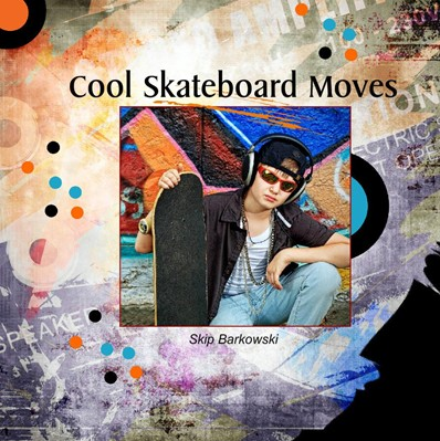 Skateboarding Photo Albums, Grunge Theme