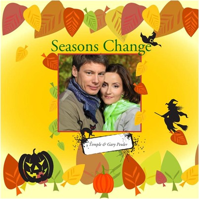 Fall Seasons Photo Albums, Halloween Fun Theme