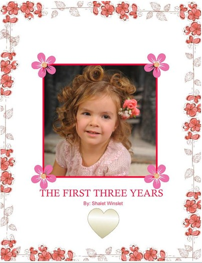 Little Girl Photobook, Classic White Theme