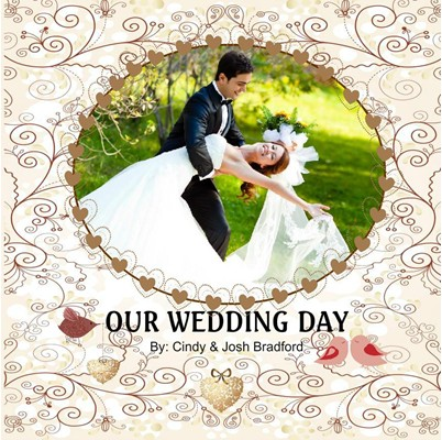 Wedding Photo Album,Floral Romance Theme