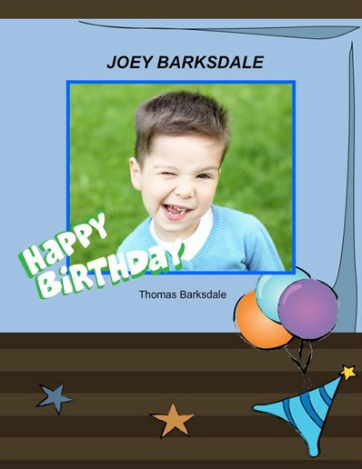 Birthday in Blue Theme,photo album for boy birthdays