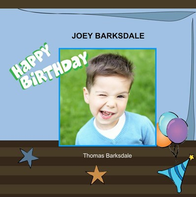 Birthday in Blue Theme,photo book for boy birthdays