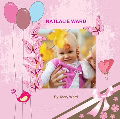 Birthday in Pink Theme,photo book for girl birthdays