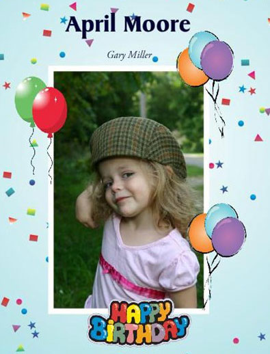 precious-birthday-girl-photo book, for little girls