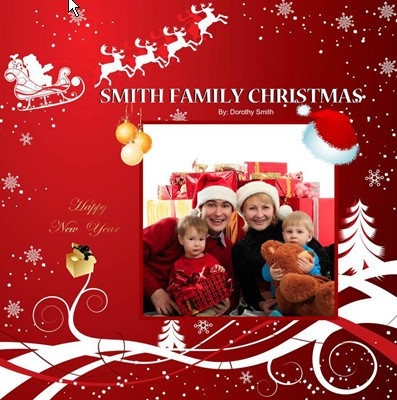 Red Christmas Photo Book, Christmas Red Theme