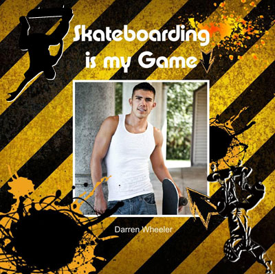 Guys Skateboarding Photo Albums, Industrial Theme